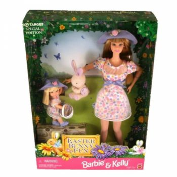 1998 Easter Bunny Fun Barbie & Kelly